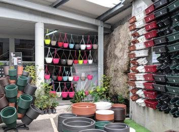 Seção jardim e vasos